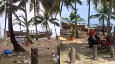 Jornada De Limpieza Arregla EL DESASTROSO ESCENARIO Dejado En Playa Las Terrenas