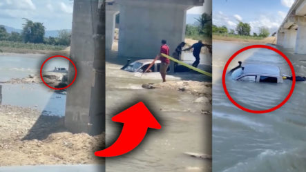 SE SUMA OTRA MÁS: Camioneta Se La Lleva El Río Cuando Intenta Cruzar Tramo Villa Isabel A Luperón En Puerto Plata