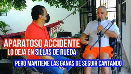 Aparatoso Accidente Lo Dejo En Sillas De Rueda Y El Canto Es Su Refugio
