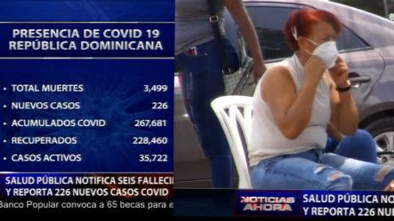 Salud Pública Anuncia Aumento De Muertes Por Covid 19
