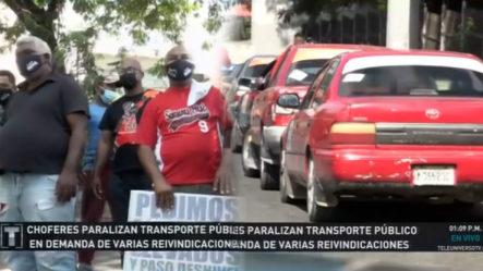 Choferes De Concho Realizan Paro Total Del Transporte En Demanda De Construcción De Elevados