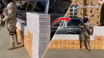 CESFRONT Detiene Moderna Jeepeta Con Más De 400 Mil Cigarrillos