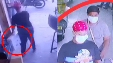 """Cámara De Seguridad Capta Tres Damas Robándose Una Plasma """"Como El Que No Quiere La Cosa"""""""