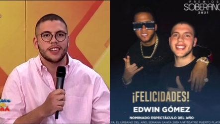 """Reconocen Como Joven De Oro A Edwin Gómez Casanova """"El Productor Aprobado Por El Alfa"""""""