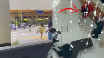 Momento En Que Se Registra Tiroteo En Un Centro Comercial De Miami Dejando Varios Heridos