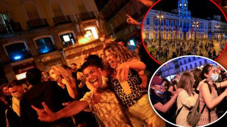 En España Celebran El Fin Del Estado De Emergencia Con Fiesta Masiva Como Si Fuera Un Fin De Año