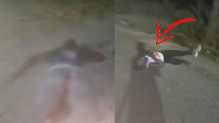 (Fuertes Imágenes) Momento En Que Dos Hombres Resultan Muertos En Carrera Clandestina