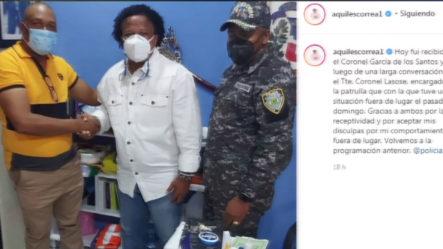 Aquiles Correa Se Disculpa Con La Policía Por Su Comportamiento Prepotente