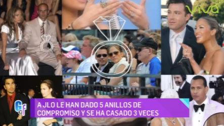 """Jennifer López """"Millonaria En Anillos De Compromiso"""""""
