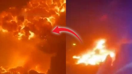 Israel Publica Imágenes De Un Enorme Incendio En La Ciudad De Asdod Causado Por Cohetes De Hamás