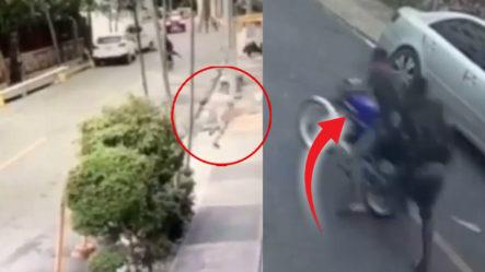 Video Muestra Cuatro Atracadores Persiguiendo A Una Niña Francesa En La Calle Leonardo Da Vinci