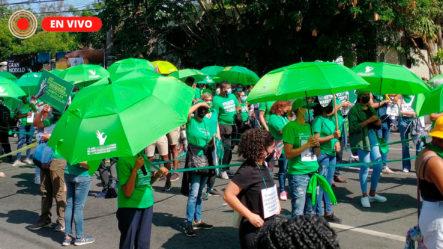 EN VIVO: Colectivos Se Unen Para Reclamar Inclusión De Las Tres Causales En El Código Penal