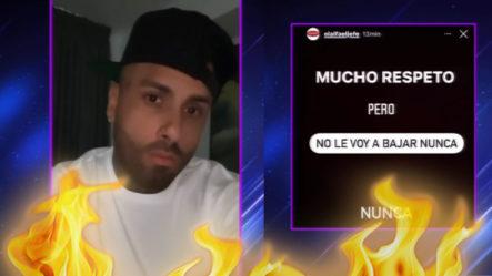 """¡Picante! Nicky Jam """"se La Deja Caer"""" Al Alfa Y Este Le Responde Caliente"""