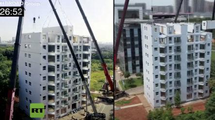 Una Constructora China Completa Un Edificio De 10 Pisos En Poco Menos De 29 Horas