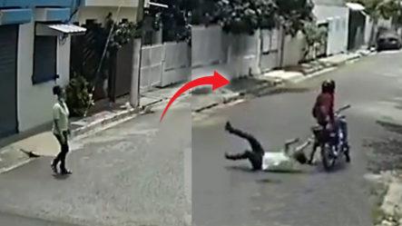 Mira Cómo Intentaron Atracar Esta Mujer En Sabana Perdida, Santo Domingo Norte