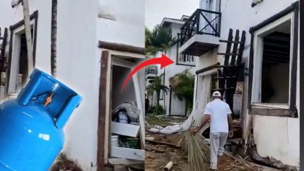 Explosión De Tanque De Gas Dejó Daños Materiales En Un Proyecto De Villas En Las Terrenas