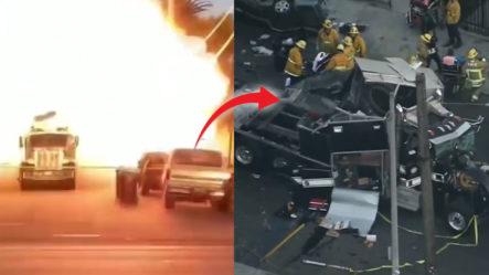Explota Un Cargamento Con 5000 Libras De Fuegos Artificiales En Los Ángeles