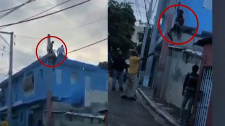 Sorprenden Ladrón En Herrera Robando Cables Eléctricos… El Resto Es Historia