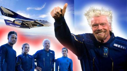 """Richard Branson  Describe Como """"única En La Vida"""" Su Despegue Al Espacio Como Viaje Turista En Su Nave Virgin Galactic"""