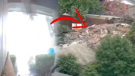 ¡Aterradoraexplosión!Casa Vuela En Pedazos EnTexas