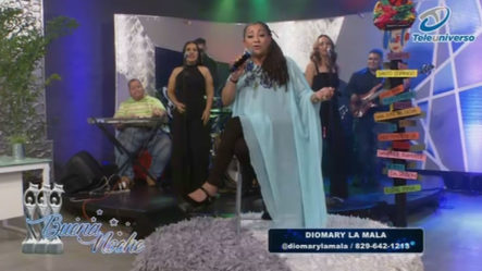 """Presentación Musical De Diomary """" La Mala"""" En   Buena Noche"""