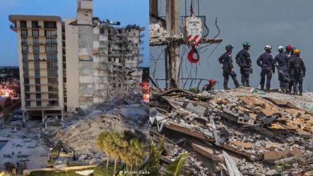 Primeras Imágenes Tomadas Por Policías Y Bomberos Del Derrumbe En Miami | Al Rojo Vivo