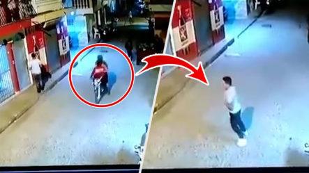 (Sensible) Momento En Que Sicarios Matan A Tiros A Joven En Santiago