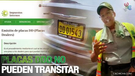 Agente DIGESETT Detiene Conductor Porque Supuestamente Las Placas DDD No Pueden Transitar