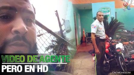 Otro Video Más HD Sobre El Agente De DIGESETT Que Le Entró A Trompá' A Civil Por Un Reclamo