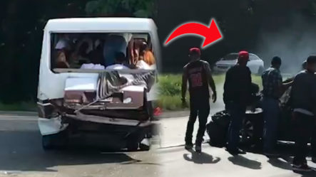 Terrible Accidente Registrado En Autopista Duarte Tramo Bonao