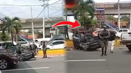 Accidente Registrado En Av. Hermanas Mirabal Con Entrada Del Mirador Norte
