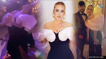 Engels Oscar, Joven Dominicano Se Gozó La Boda De Anthony Davis Sacando A Bailar Dembow A La Cantante Adele