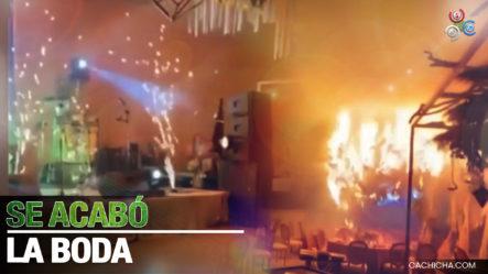 Se Desata Incendio En Una Boda Tras Lanzar Fuegos Artificiales