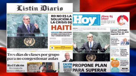 Las Principales Portadas De Los Periódicos En El Día De Hoy 23 De Septiembre Del 2021