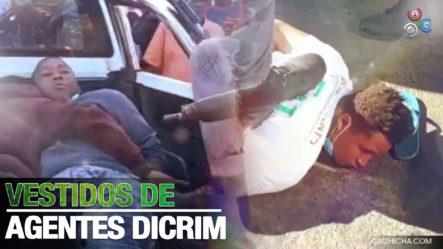 Apresan Tres Individuos Vestidos De Agentes Del DICRIM En La Vega