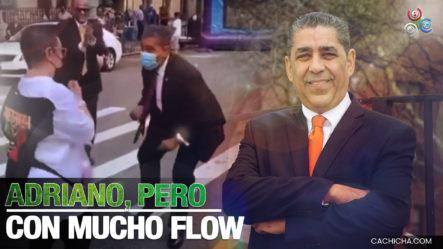 Congresista Dominicano Adriano Espaillat Mostrando Sus Pasos De Baile