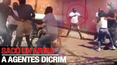 Padre Defiende Con Arma Su Hijo Tras Agentes DICRIM Intentar Apresarlo Por Estafa En Línea