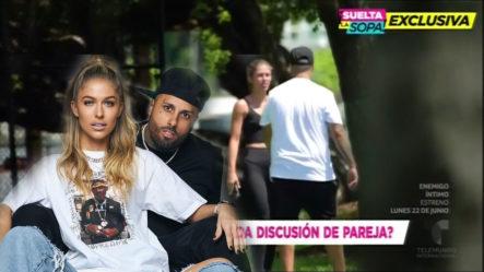 Captan A Nicky Jam Discutiendo Con Su Novia En Un Parque