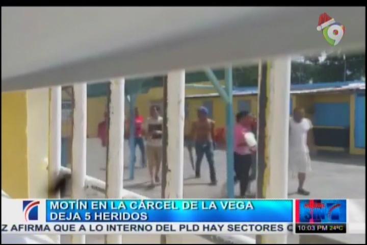 Motín En La Cárcel De La Vega Deja 5 Heridos #Video