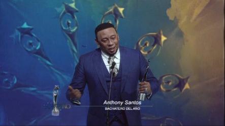 Anthony Santos Se Lleva El Soberano Como Bachatero Del Año
