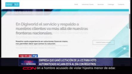 Empresa Que Ganó La Licitación De La JCE Para Voto Automatizado Aclara Está Al Día Con Registros