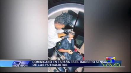 Barbero Dominicano En España Es La Sensación De Los Futbolistas