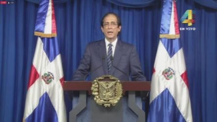 Declaraciones Del Ministro De La Presidencia Sobre El COVID-19