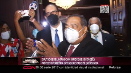 Diputados De La Oposición Impide Que Se Conozca Proyecto De Extender Estado De Emergencia