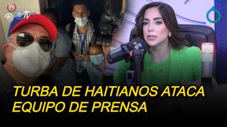 Turba De Haitianos Ataca Equipo De Prensa De Telenoticias Cubre Funeral De Jovenel Moïse   6to Sentido