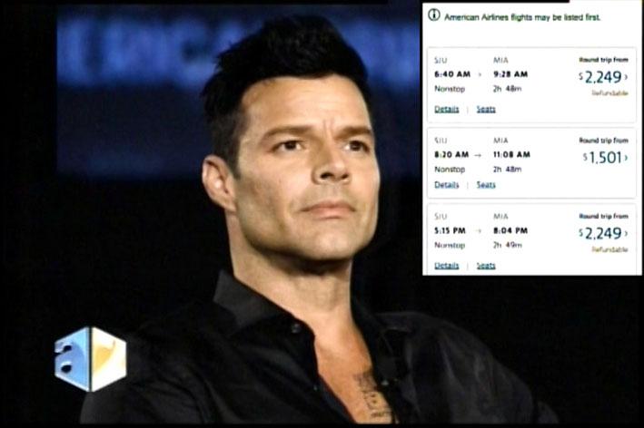 Ricky Martin Se Alza Contra Las Lineas Aéreas Por Subidas De Precios Desde Miami A Puerto Rico