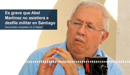 Álvaro Arvelo Considera Como Grave Que El Alcalde Abel Martínez No Asistiera Al Desfile Militar En Santiago.