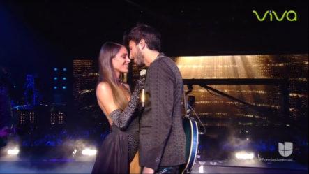 Presentación De Sebastian Yatra Y Tini En Premios Juventud