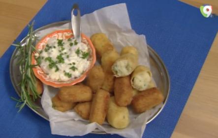 Aprende A Preparar Croquetas De Papas Con Hierbas Y Salsa Tartara En Clases De Cocina