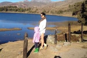 La última fotografía publicada por la actriz Mónica Spear junto a su hija durante sus vacaciones